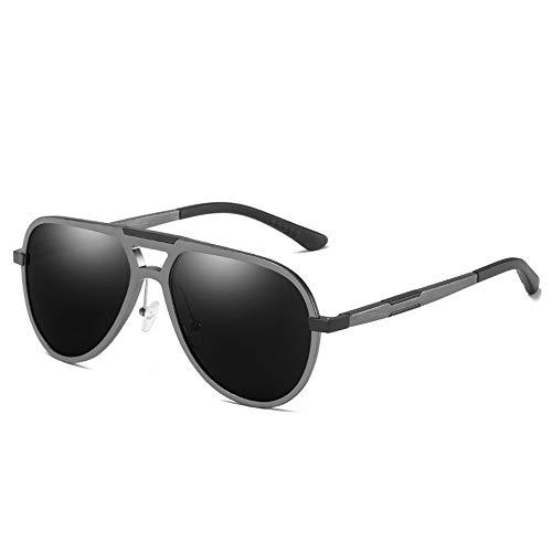 WULE-Sunglasses Unisex Aluminium Magnesium Rahmen Sportbrille Outdoor Reiten Unisex Grau Objektiv UV400 Schutz New Polarized Sonnenbrille (Farbe : Gray)