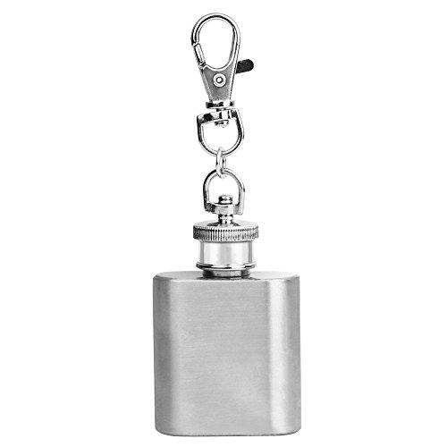 N/a Polish Remover (YCANK Schlüsselanhänger Hip Flagon aus Stahl, 28 ml, mit Fläschchen, Alkohol, Mini)