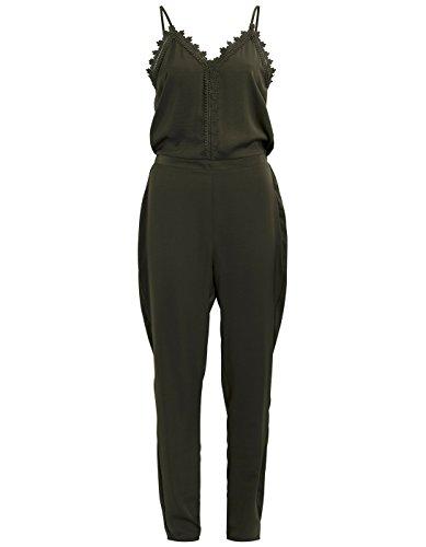 VILA CLOTHES Damen Vilany Jumpsuit, Grau (Granite Grey) - 8