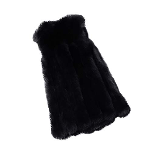 VEMOW Herbst Winter Elegante Damen Westen Weste Winter Warme Hoodie Outwear Casual Mantel Kunstpelz Reißverschluss Sherpa Jacke(X4-Schwarz, 38 DE/M CN)