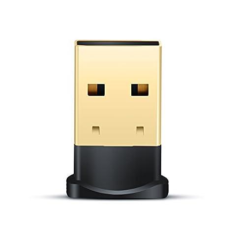 CSL - USB Adaptateur Bluetooth V4.0 avec DEL | Dongle | Class 4.0 Technologie | Standard le plus récent | Plug & Play | compatible Windows 7, 8, 8.1 + 10
