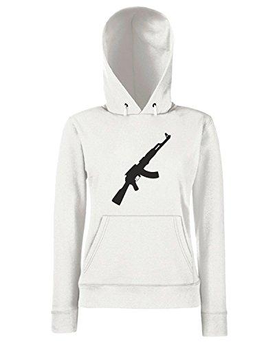 T-Shirtshock - Sweats a capuche Femme TM0525 fbi Blanc