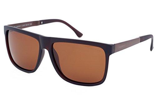 Grey Wolf Retro-Sonnenbrille im Wayfarer-Stil, polarisiert, für Herren und Damen, zum Autofahren, Angeln, Sport, hellbraune Amaber, Gläser aus Kunststoff, blendfrei