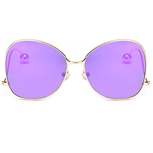 XGLASSMAKER Polarisierte Sonnenbrille Kinder Familie Metall Männer Und Frauen Trendy Brillengestell, B