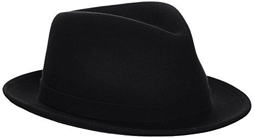 Kangol - K1509C - LiteFelt Hiro Trilby - Chapeaux - Mixte - Noir - Taille: M