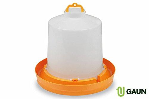 8.5L Plastic Drinker for Chickens - Orange Test
