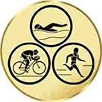 Sportland Pokal//Medaille Emblem Durchmesser 50 mm Durchmesser Motiv Ski-Slalom S.B.J