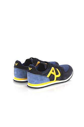 Homme Bassa Armani Scarpa Jeans Bassi Blu Emporio Tennis Da I 8ZBAgwqn
