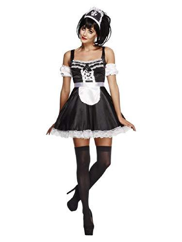 Fever Kollektion French Maid Kostüm mit Kleid Haarreifen und Ärmeln, - Mann Französisch Maid Kostüm