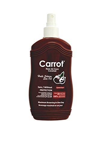 Carrot-Sun ® Kokosnuss Bräunungsbeschleuniger Spray Bräunungsspray mit Kokosöl und L-Tyrosin für eine goldbraune und schnelle Bräunung! 200ml