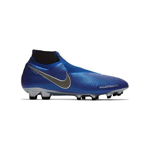Nike Phantom Vsn Elite Df Fg - Racer Blue/Black-metallic silv, Größe:9