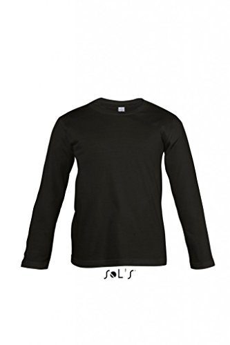Kids Long Sleeves Tee Shirt Vintage - Farbe: Deep Black - Größe: 4 (96/104) (Long Sleeve Kid Tee)
