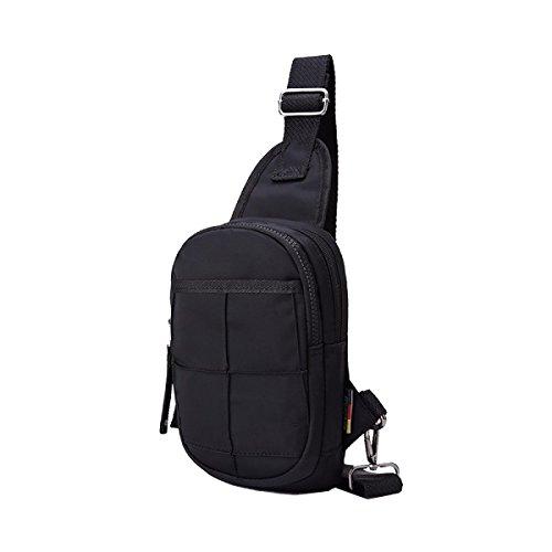 Yy.f Neueste Herren-Brusttasche Kühle Haltung Gezeiten Wasserdichten Nylon-Diagonalpaket Stilvolle Mann Tasche Fester Beutel 3 Farben Green