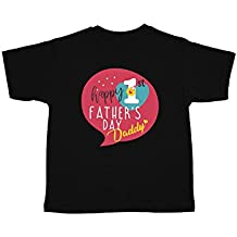 YaYa Cafe Happy First Fathers Day Dad Printed Kids Cotton T-Shirt