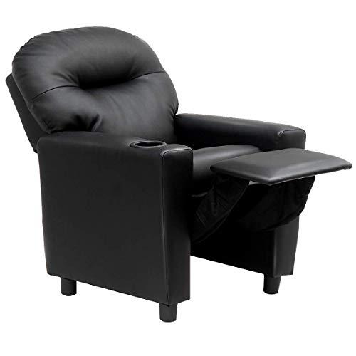 "Costzon moderne lehnstuhl, pu-leder loungemöbel 23,5\"" x 21\"" x 30,5\"" (l x b x h) schwarz"