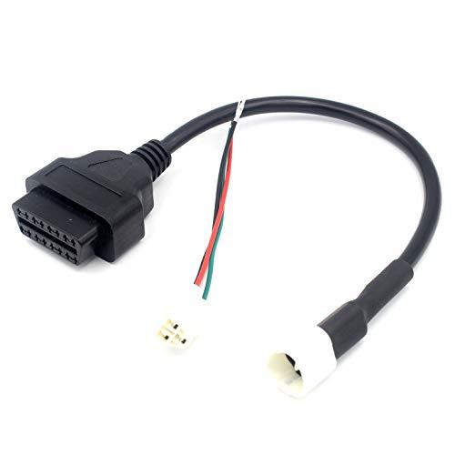 LoongGate Super Sottile OBD II connettore Femmina 16/Pin Cablaggio Plug Adapter per o Dispositivo diagnostico OBD2/Cavo