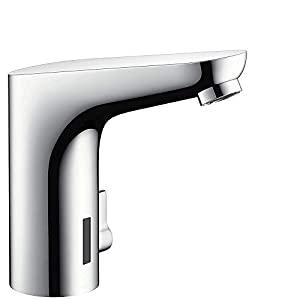 Hansgrohe 31173000 Focus Grifo electrónico de lavabo con conexión a red y regulación de temperatura, Cromo