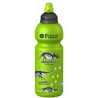 Fizzii 600ml Kiwi-Dino, Trinkflaschen, Kohlensäure auslaufsicher, kein BPA, Keine Weichmacher, spülmaschinenfest
