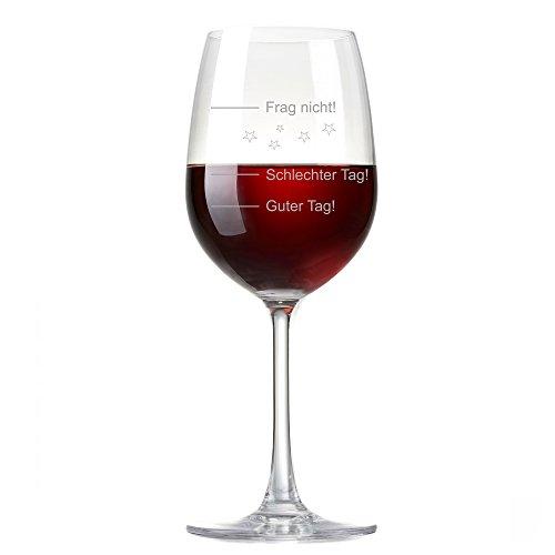 XL Weinglas 'Guter Tag!, Schlechter Tag! - Frag nicht!' 410ml von Rona | Premiumglas mit...