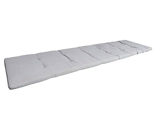 Balke Luxus 4-Sitzer Bankauflage 'Rips Schlamm 180', ca. 180x45 cm, uni taupe strukturiert