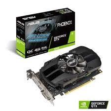 ASUS GeForce GTX 1650 OC (4 GB, GDDR5/PCI Express 3.0/1485 MHz, 1740 MHz, 8002 MHz, Low Profile)