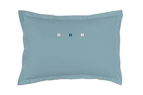 Matt&Rose 044334 Dragées Délices Taie d'oreiller Coton Bleu/Orage 70 x 50 cm
