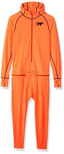 AIRBLASTER Herren Kapuzenjacke Ninja Anzug, Herren, Men's Hooded Outdoor Base Layer Ninja Suit, GNU Hot Coral, X-Small