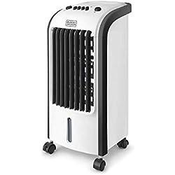 Black + Decker - BXAC5E. Rafraîchisseurs d'air portable et humidificateur. Système d'oscillation. 3 vitesses. Réservoir d'eau amovible 5L. 2 conteneurs de glace. Débit d'air 270m3/h.
