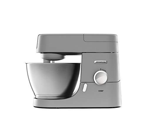 Kenwood Chef KVC 3110S - Küchenmaschine, 4,6 l Edelstahl-Rührschüssel & 1,5 l Acryl-Mixaufsatz, multifunktionaler Küchenhelfer, 1000 W, inkl. 3-teiligem Patisserie-Set, silber