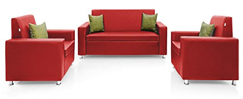 Comfort Couch Premium Florence Sofa Set 2+1+1 (Red)
