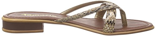 Tamaris 27107, Tongs femme Beige - Beige (NATURE SNAKE 373)