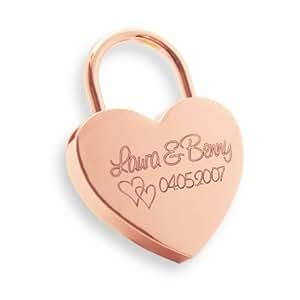 Liebesschloss mit GRATIS Geschenkschachtel Herz Herschloss rosegold Liebesgeschenk rosa Schloss