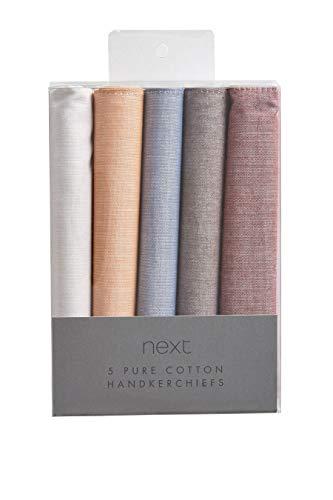 next Herren Taschentücher Aus Baumwolle 5Er-Pack Mehrfarbig Einheitsgröße