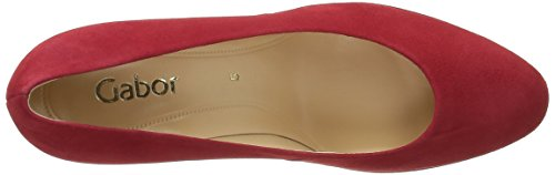 Gabor Shoes Fashion, Scarpe con Plateau Donna Rosso (Rot LFS Natur)