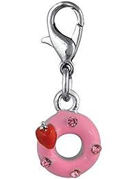 ENT Joya rosquilla rosa - art. EL28073 - Lon. 3 cm - Anc. 1 cm - Alt. 0,5 cm - Ten by Varotto & Co.
