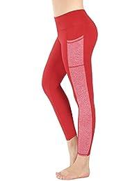 Sugar Pocket Legging de Sport Femme Stretch Yoga Jogging Fitness Running  Taille Haute avec Poche 9191a22584f
