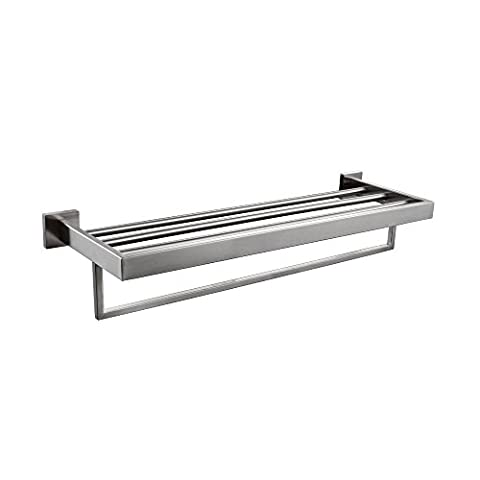 KES A2510-2 Bathroom Lavatory Double Bathroom Shelf Towel Rack Wall