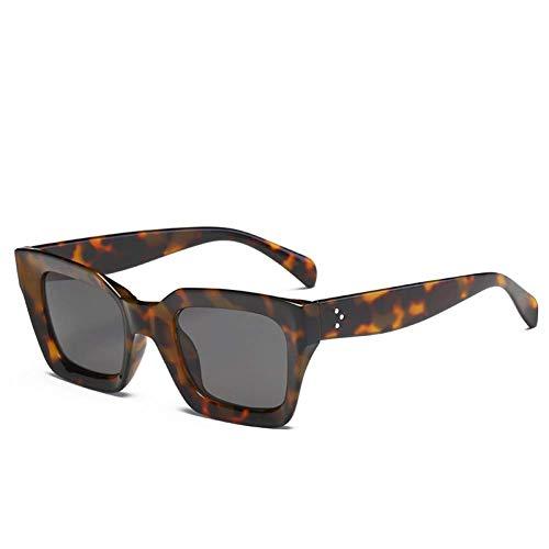 YHEGV Quadratische Katzenauge-Sonnenbrille-Frauen-Retro Marken-Entwurfs-Weinlese-Sonnenbrille für weibliche Damen Eyewear Uv400