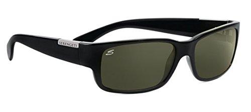 Serengeti merano occhiali da sole, lente: polarized 555nm, nero