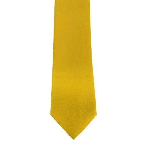 Premier Herren Krawatte Satin, unifarben (One Size) (Zitrone) (Mikrofaser-satin-anzug)