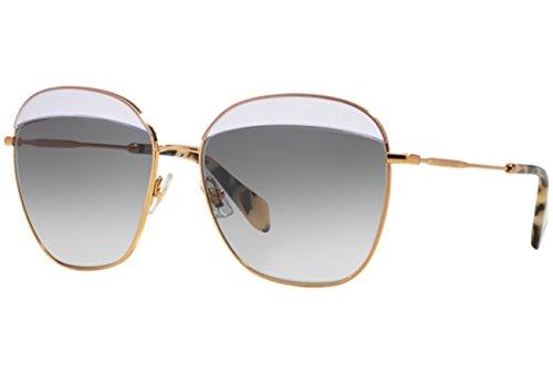 Miu Miu Damen MU53QS Sonnenbrille, Gold (Opal Violettc TWJ3E2), One size (Herstellergröße: 59)