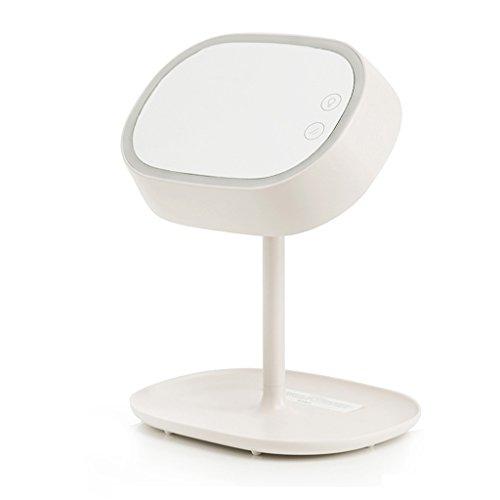 Kreative Schminkspiegel PVC Tischlampe, Glas Lampenschirm, Lade Dimming Touch Schmiedeeisen Lesetisch Lampe, LED (Color : White) (Lampe Konsole Spiegel Tisch)