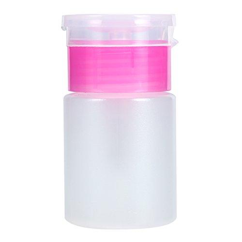 60ML Pump Dispenser, Pumpen Reiniger leere Plastikflasche für Nagel Kunst polnischer Entferner Flüssigkeit - freie Flasche (Rosa) (Alkohol Dispenser-pumpe)