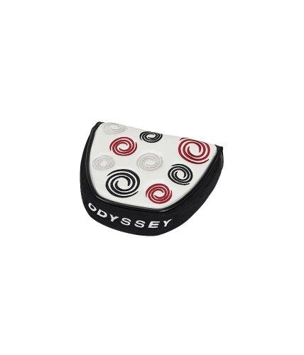 Odyssey-Putter Mallet da golf con motivo a vortice, colore: bianco