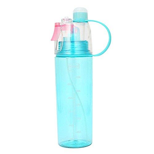 Spray Mist Wasserflasche, Gusspower Mist Sprayer für Outdoor Sport Hydration und Abkühlung Wasser Trinkflasche, Protable Auslaufsicher Sport Spray Drückflasche (Blau 600ml) - Beste Rucksack Sprayer