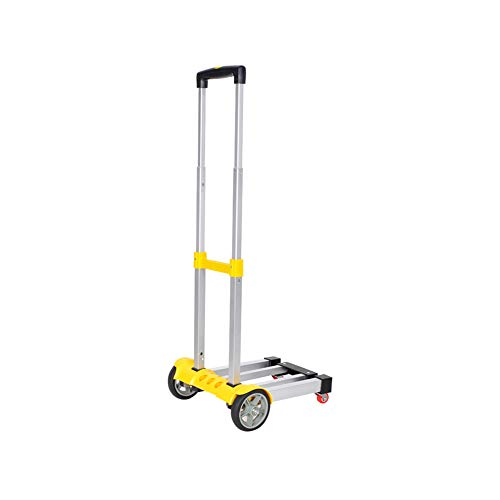 WOAINI Klapp-LKW, 80 kg Kapazität - Mehrfarbig (Color : Yellow) - Regen Mehrfarbige Teppiche
