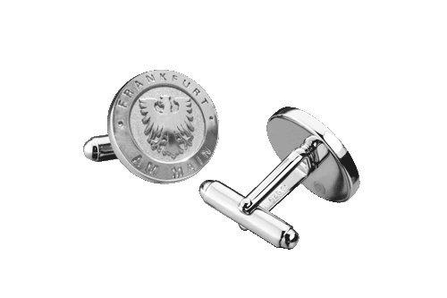 Manschettenknöpfe - Frankfurt am Main - massives 925er Sterling Silber