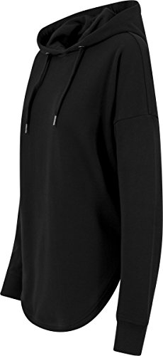 Urban Classics TB1308 Damen Hoodie Ladies Oversized Terry Hoody, weit geschnittener Kapuzenpullover für Frauen mit abgerundetem Saum, black, Größe S - 4