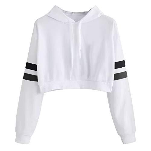 Sonnena Sweatshirts, ohne Kapuze, langärmlig, Aufdruck Pullover Casual Größe Forti Maglie Tops Sweatshirt Hoodie Pullover, Weiß XXL