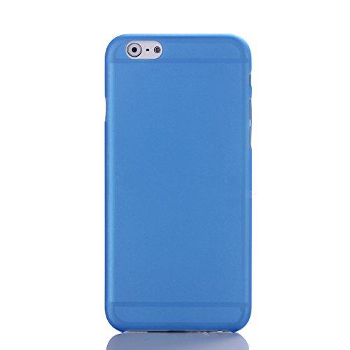 Liamoo® Apple iPhone 6 / 6s (4,7 Zoll) ultra dünne (ultra thin) Schutzhülle / Hülle / Bumper / Case / Cover - Hoher Schutz vor Staub / Kratzer / Stößen / Stürzen / Fallschutz mit Kameraschutz in Weiß  blau transparent
